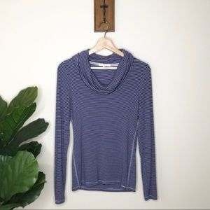 Anthropologie Pure + Good purple cowl neck sweater